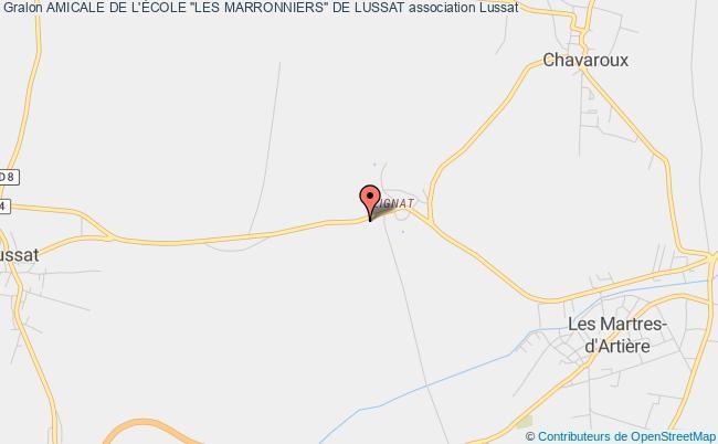 """plan association Amicale De L'École """"les Marronniers"""" De Lussat"""