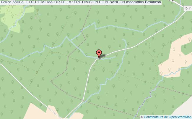 plan association Amicale De L'etat Major De La 1ere Division De Besancon Besançon cedex
