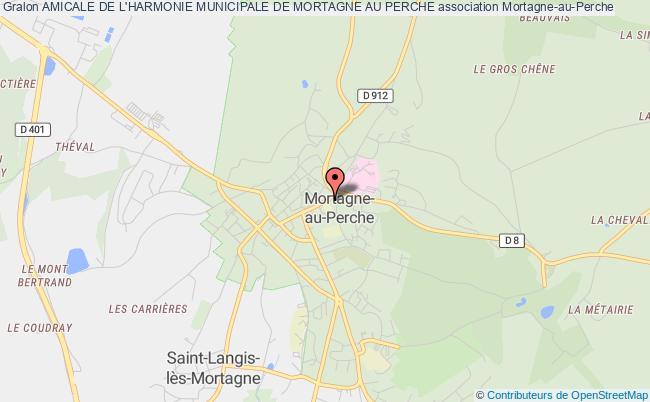 plan association Amicale De L'harmonie Municipale De Mortagne Au Perche
