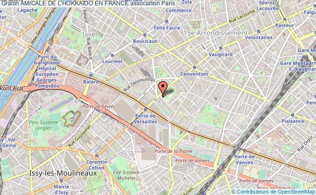 plan association Amicale De L'hokkaido En France Paris