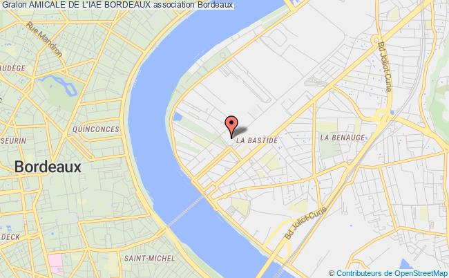 plan association Amicale De L'iae Bordeaux Bordeaux