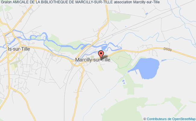 plan association Amicale De La Bibliotheque De Marcilly-sur-tille Marcilly-sur-Tille