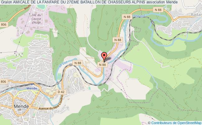 plan association Amicale De La Fanfare Du 27Ème Bataillon De Chasseurs Alpins