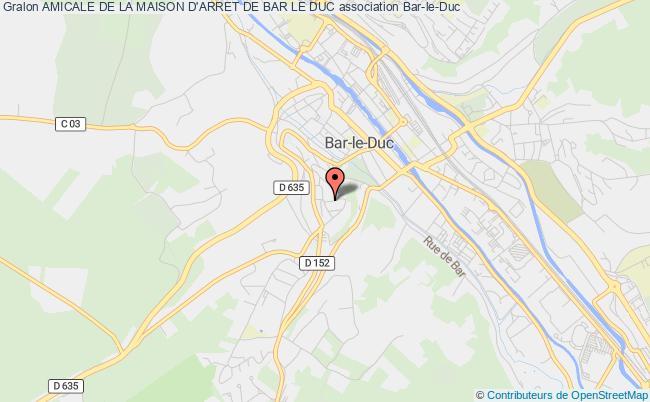 plan association Amicale De La Maison D'arret De Bar Le Duc