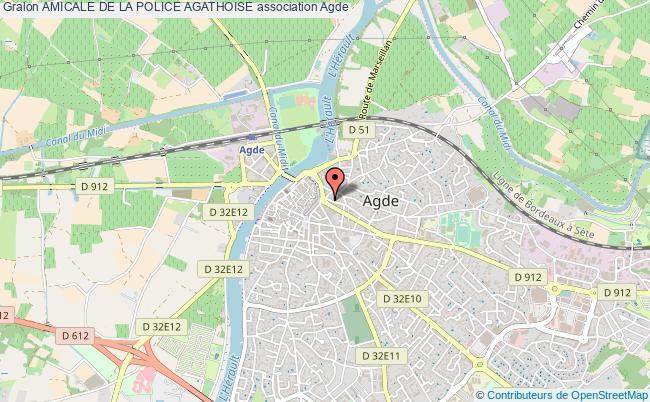 plan association Amicale De La Police Agathoise Agde