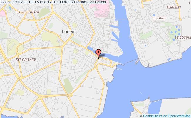 plan association Amicale De La Police De Lorient