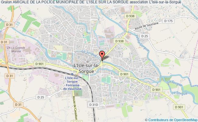 plan association Amicale De La Police Municipale De  L'isle Sur La Sorgue