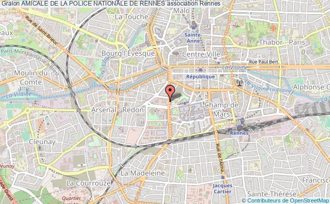 plan association Amicale De La Police Nationale De Rennes Rennes