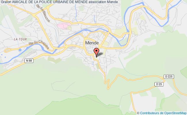 plan association Amicale De La Police Urbaine De Mende