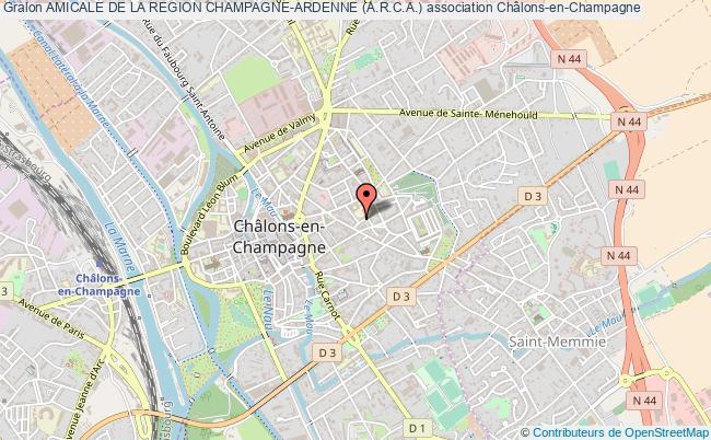 plan association Amicale De La Region Champagne-ardenne (a.r.c.a.)