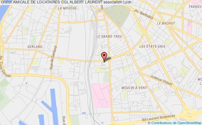 plan association Amicale De Locataires Cgl Albert Laurent
