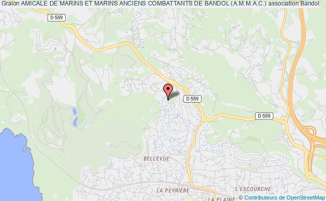 plan association Amicale De Marins Et Marins Anciens Combattants De Bandol (a.m.m.a.c.) Bandol