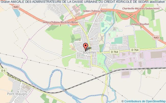 plan association Amicale Des Administrateurs De La Caisse Urbaine Du Credit Agricole De Sedan