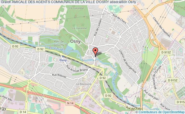 plan association Amicale Des Agents Communaux De La Ville D'osny Osny