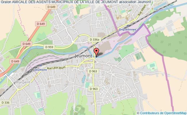 plan association Amicale Des Agents Municipaux De La Ville De Jeumont Jeumont