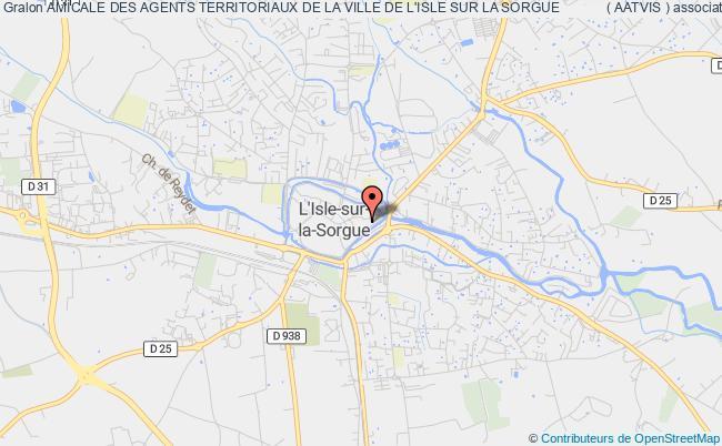 plan association Amicale Des Agents Territoriaux De La Ville De L'isle Sur La Sorgue            ( Aatvis )