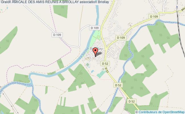 plan association Amicale Des Amis Reunis A Briollay Briollay