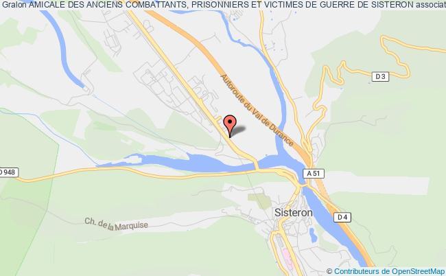 plan association Amicale Des Anciens Combattants, Prisonniers Et Victimes De Guerre De Sisteron