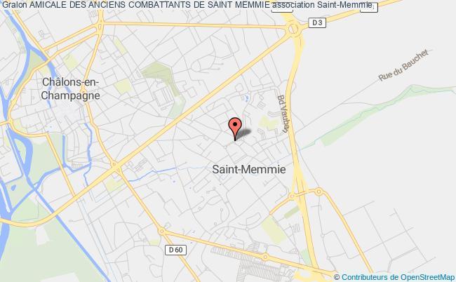 plan association Amicale Des Anciens Combattants De Saint Memmie