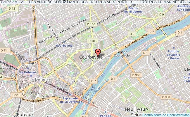 plan association Amicale Des Anciens Combattants Des Troupes Aeroportees Et Troupes De Marine Des Hauts-de-seine A.a.c.t.a.t.m. Du 92 Courbevoie