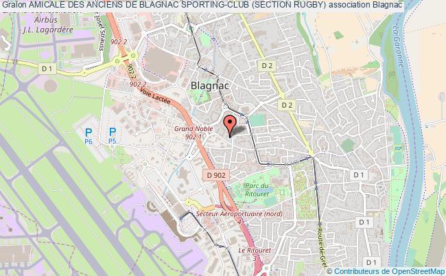 plan association Amicale Des Anciens De Blagnac Sporting-club (section Rugby)