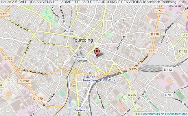 plan association Amicale Des Anciens De L'armee De L'air De Tourcoing Et Environs Tourcoing