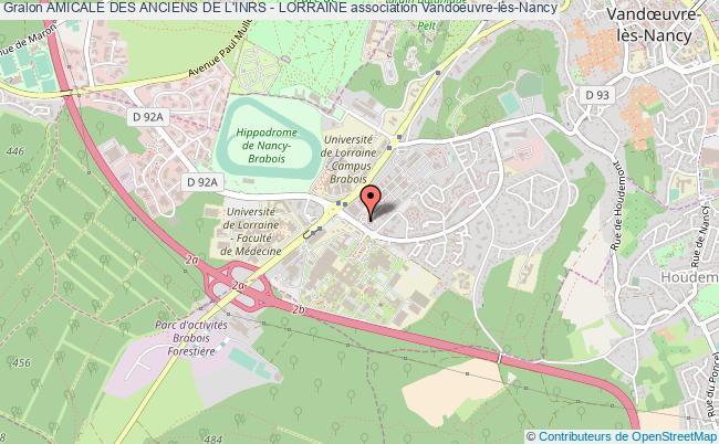 plan association Amicale Des Anciens De L'inrs - Lorraine