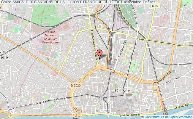 plan association Amicale Des Anciens De La Legion Etrangere Du Loiret