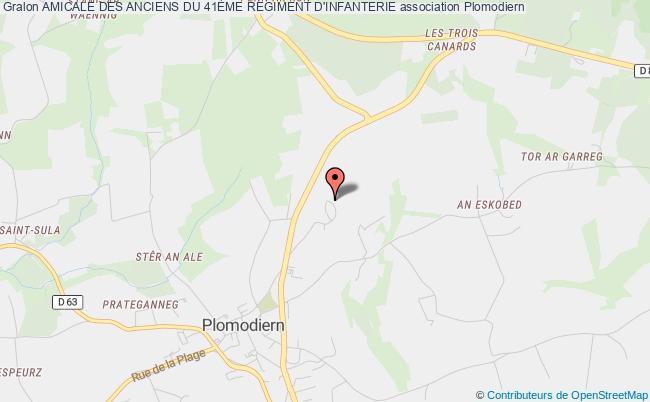 plan association Amicale Des Anciens Du 41Ème Regiment D'infanterie