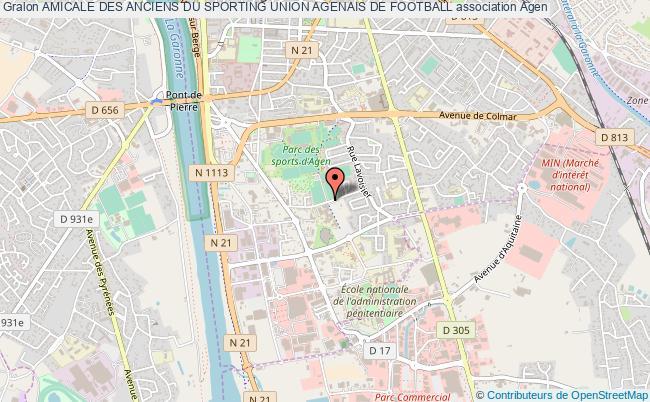 plan association Amicale Des Anciens Du Sporting Union Agenais De Football