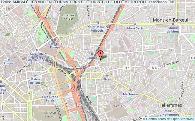 plan association Amicale Des Anciens Formateurs Secouristes De Lille Metropole