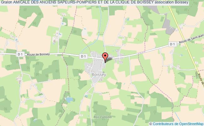 plan association Amicale Des Anciens Sapeurs-pompiers Et De La Clique De Boissey Boissey