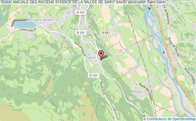 plan association Amicale Des Anciens Syndics De La Vallee De Saint-savin Saint-Savin
