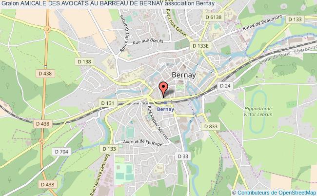 plan association Amicale Des Avocats Au Barreau De Bernay