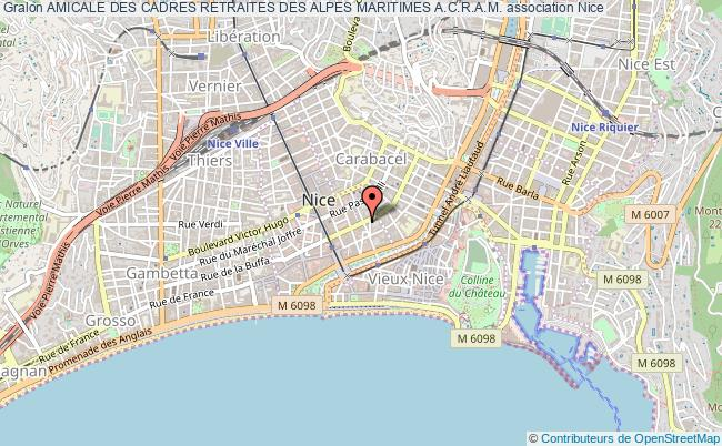 plan association Amicale Des Cadres Retraites Des Alpes Maritimes A.c.r.a.m.