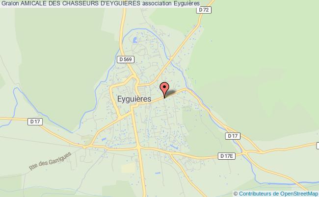 plan association Amicale Des Chasseurs D'eyguieres Eyguières