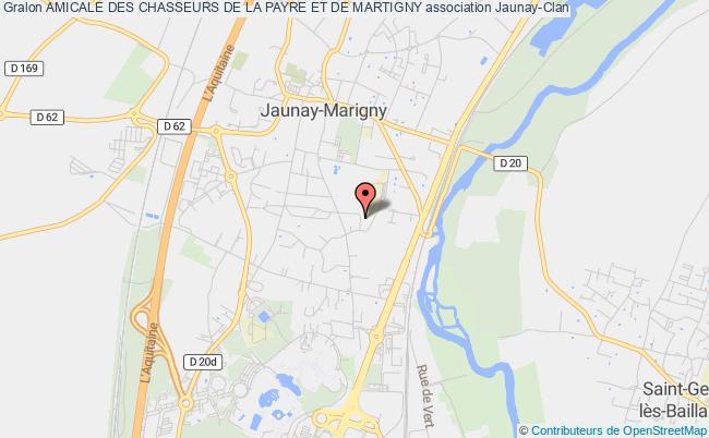 plan association Amicale Des Chasseurs De La Payre Et De Martigny