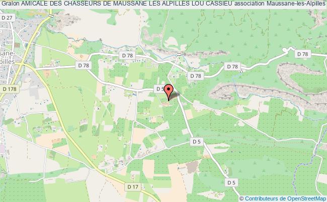 plan association Amicale Des Chasseurs De Maussane Les Alpilles Lou Cassieu