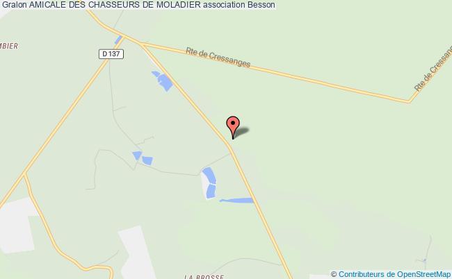 plan association Amicale Des Chasseurs De Moladier