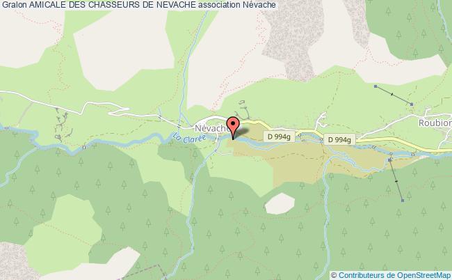 plan association Amicale Des Chasseurs De Nevache