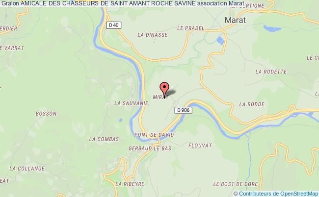 plan association Amicale Des Chasseurs De Saint Amant Roche Savine SAINT-AMANT-ROCHE-SAVINE