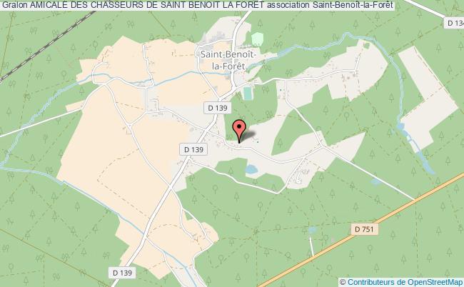plan association Amicale Des Chasseurs De Saint Benoit La Foret Saint-Benoît-la-Forêt