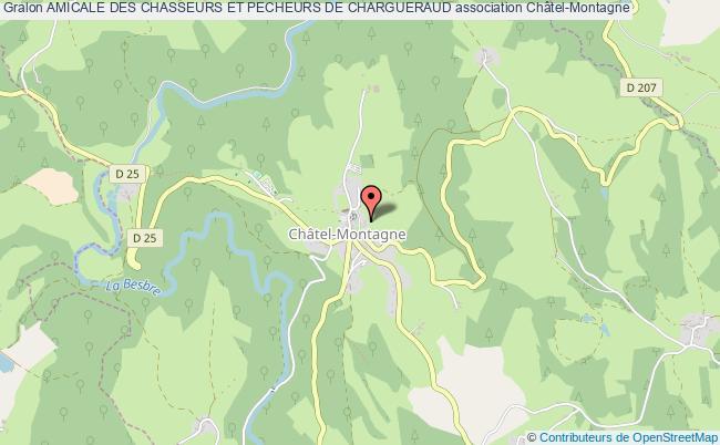 plan association Amicale Des Chasseurs Et Pecheurs De Chargueraud Châtel-Montagne