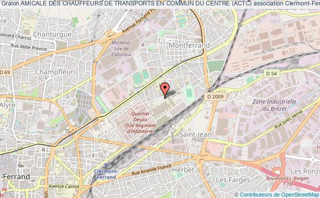 plan association Amicale Des Chauffeurs De Transports En Commun Du Centre (actc)