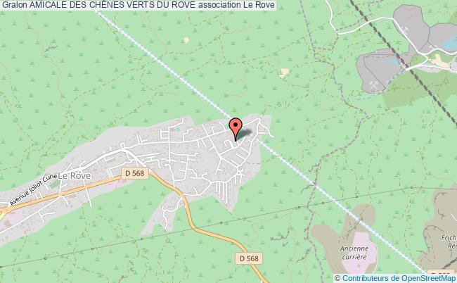 plan association Amicale Des ChÊnes Verts Du Rove Le Rove