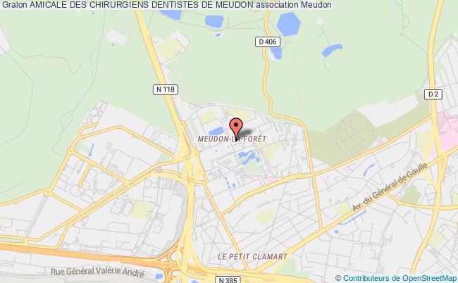 plan association Amicale Des Chirurgiens Dentistes De Meudon