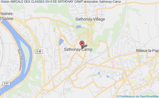 plan association Amicale Des Classes En 9 De Sathonay Camp