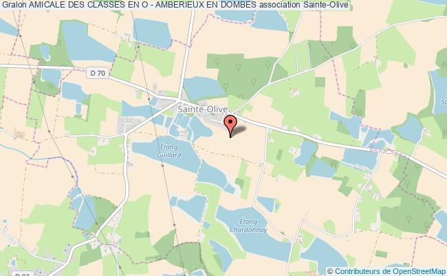 plan association Amicale Des Classes En O - Amberieux En Dombes