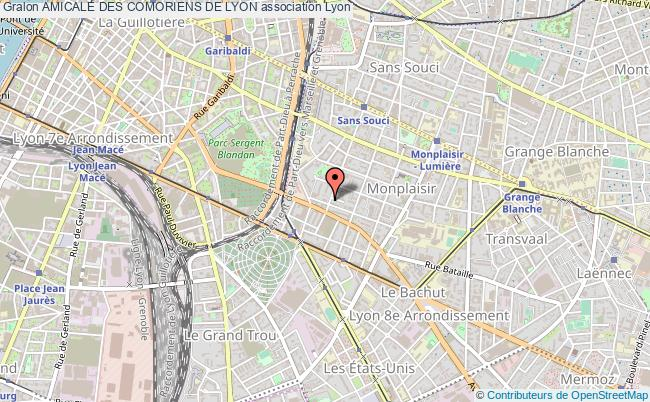 plan association Amicale Des Comoriens De Lyon