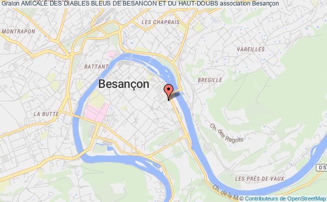 plan association Amicale Des Diables Bleus De Besancon Et Du Haut-doubs